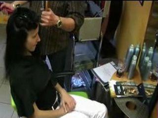 Teen Gets Fucked In Hairdresser Saloon Instead Of Tip