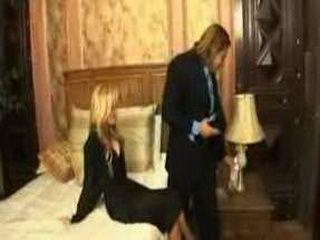 Blonde Milf Teasing Husband In Their Bedroom