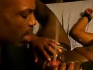 Black Guy Drink Urine From His Ebony GF Pussy While She Ending