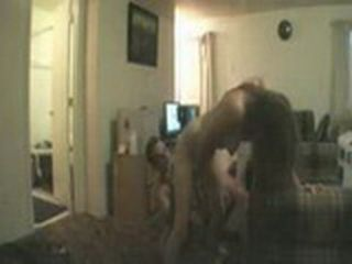 Amateur Couple Having Long Action In His Flat At Couch