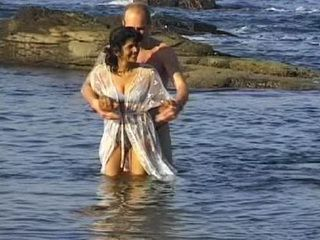 Latinoamerican Hooker Fucked In Cold Sea Water