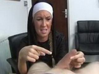 Bossy Nun Go Harsh On Cock