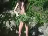 Stuffing Nettle All Over Her Naked Body And Pussy