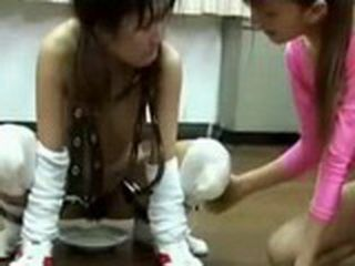 Slave Girl Forced To Drink Urine And Satisfied Mistress
