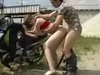 Farm Girl Outdoor Fucked On Motorcycle