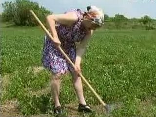 Younger Guys Fucked Bondaged Granny In Field