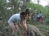 Teen Gets Fucked In The Woods