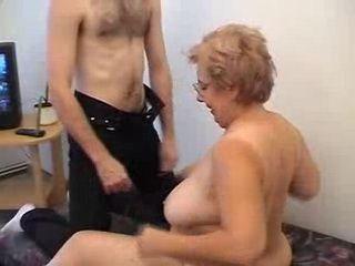 BBW Granny Fucks Her Shy Grandson