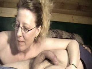 Mature Sucked Much Younger Cock In His Home For Webcam