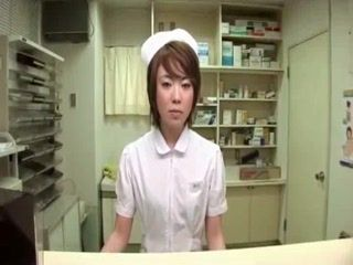 Japanese Doctor and Nurse Taking Sperm Sample