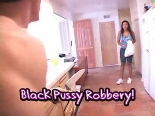 Black Girl Caught Stealing Gets  Fucked Under Knife Threat