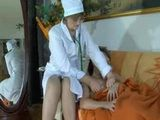 Russian Mature Doctor Cares For Her Young Patient