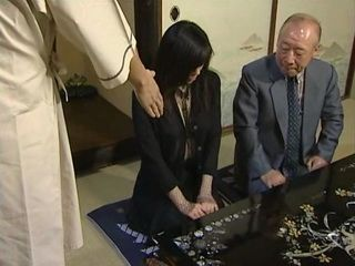 Impotent Grandpa Brought His Much Younger Wife In Brothel To Be Fucked By Stranger