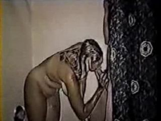 Older Latina With Saggy Tits Sucking BF Under Shower Before Fuck Him