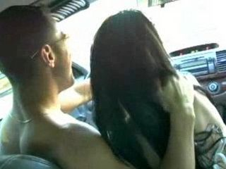 Naked Dude Driveing Car While His Slut Giving Him Head
