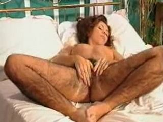 Mature Abnormally Hairy Woman Fingering Her Beast