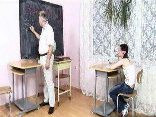 Teen Schoolgirl Deserves Well Today Good Grades at School