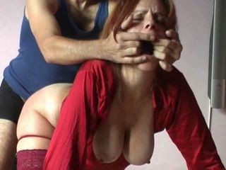 Busty Amateur Wife Fucked Roughly By Her Hubby