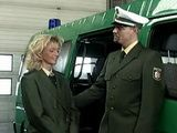 German Polices Officer Gives Sex Lesson To His Younger Blonde College