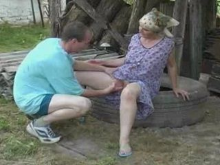 Mailman Demolishing Saggy Granny Pussy And Ass
