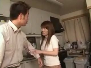 Asian Housewife Started Repairman In Her House