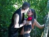 Perky Tits Cowgirl MILF Gets All Her Holes Fucked Hardcore Outside in a Park