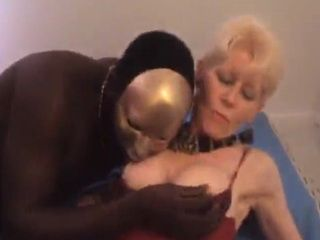 Two Masked Men Roughly Fuck a Blonde Bitch After She Sucks Them Off
