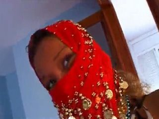 Arab Hottie Strips and Gets Fucked By an Older White Man for Money