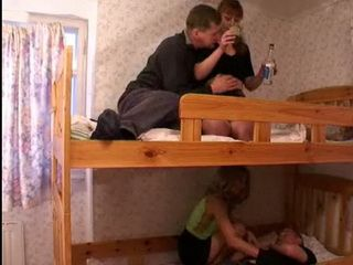 Russian Amateur Couples Get  and Have Orgy