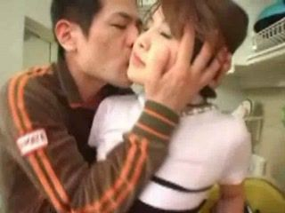 Japanese Milf Groped In Kitchen