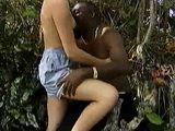 Hot Female Tourist Fucks a Native Black Man in the Woods