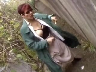 Slutty Mature Woman with Big Tits Shows Her Stuff and Gets Fucked