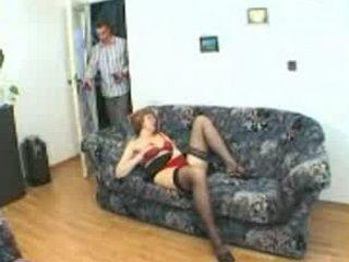 Husbands First Son Caught Stepmom Masturbating On Sofa End Fucked Her