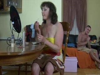 Horny Young Husband Fucked His Mature Wife Before She Left Home