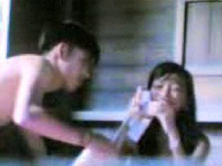 Amateur Asian Couple Unknowingly Filmed While Fucking
