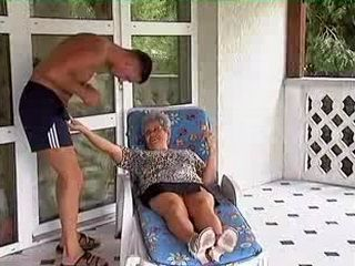 Slutty Granny Fucks With Her Son In Law