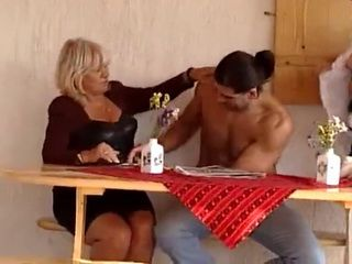 Two Fat Mature Ladies Fucked by a Younger Guy