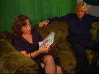 Hot Mom in Fishnets Fucked on the Sofa