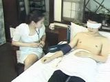 Japanese Nurse Sucks Off Her Patient