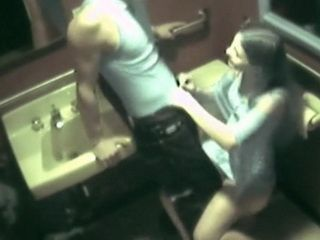 Amateur Couple Caught Fucking In the Bathroom