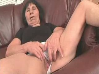 Granny Masturbate Before Younger Man Rip Her Hairy Pussy