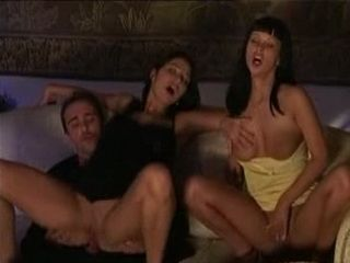 Wife Got Horny Watching Her Hubby Fuck Two Hotties