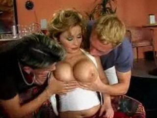 Busty Mature Fucked by Two Younger Guys in Threesome