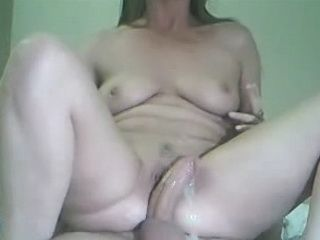 Reverse Cowgirl Pussylips Creampie