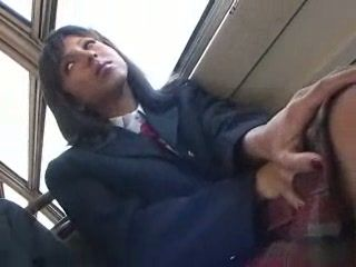 Exchange Student Giving Handjob and Blowjob To Professor In Japanese Bus