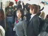 Japanese Schoolgirls Giving Handjob In Bus