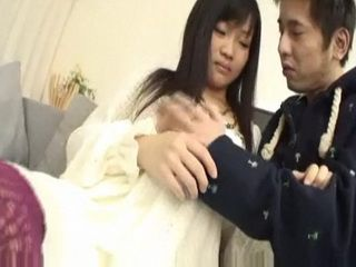 Japanese Babe Hot Blowjob between Friends
