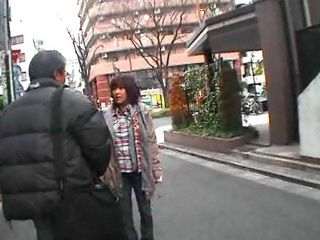 Young Japanese Babe Sucks Off Old Guy