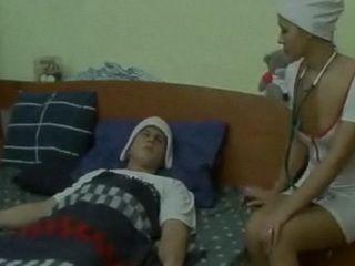 Hot Nurse Fucks Sick Man for Therapy