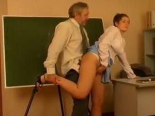 Old Man Teacher Fucks the Young Intern